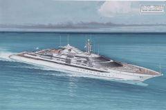 'Trump Princess' le superyacht commandé par Donal Trump en 1993 et jamais réalisé