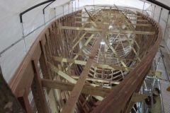 La Calypso, en chantier