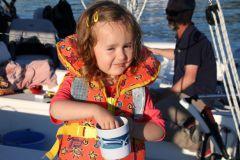 Enfant en navigation - la jolie Clémence