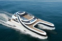 Rén, un concept de catamaran futuriste, destiné à la clientèle chinoise