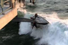 Voilier qui chavire à Redondo Beach
