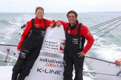 Tanguy de Lamotte raccroche le ciré, Samantha Davies reprend la barre d'Initiatives-Coeur !