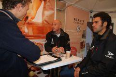 Transat Jacques Vabre 2017, rencontre avec Armel Tripon et Vincent Barnaud, skippers de Réauté Chocolat