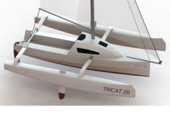 Tricat 20, un mini trimaran habitable