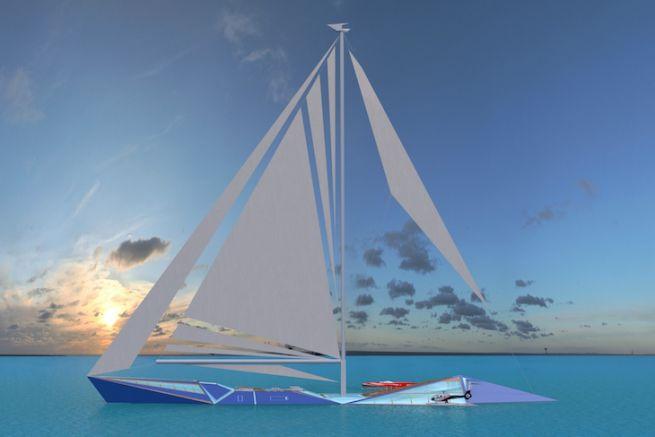 Sailing Yacht Origami Un Concept Excentrique Au Design Asiatique
