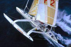 Fleury Michon, conçu spécialement pour la Route du Rhum 1986 aux mains de Philippe Poupon