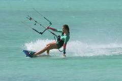 Sarah à Boa Vista, au Cap Vert