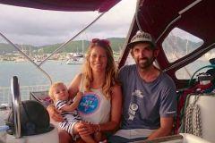Sarah, Aurélie et Nael en Martinique