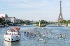 Départ du rallye paddle des sauveteurs en Mer sur la Seine