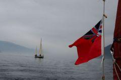 Aviron dans la brume sur le Loch Ness lors du SailCaledonia 2018