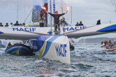 Arrivée du Tour du Monde en solitaire de François Gabart