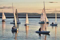 West Kirby lake evening sail