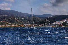 Passage étroit dans les îles Grecques