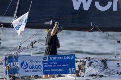Yoann Richomme, vainqueur de la 1ère étape de la Solitaire du Figaro