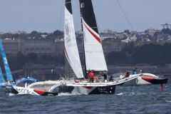 Le trimaran groupe GCA au Grand Prix Multi50 de Brest