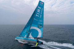 Stéphane Le Diraison raconte dans un podcast son plaisir d'être en mer pendant la Mini Transat