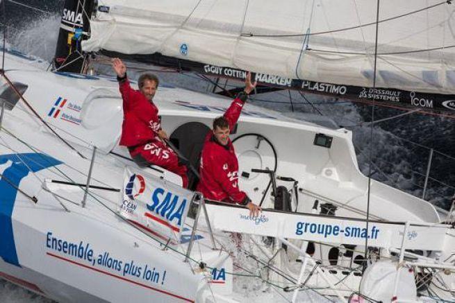 Michel Desjoyeaux et Paul Meilhat sur SMA