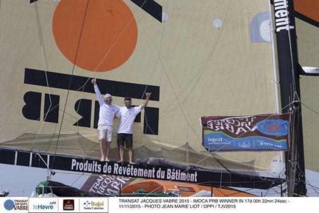 Vincent Riou et Sébastien Col remporte la victoire sur l'Imoca PRB