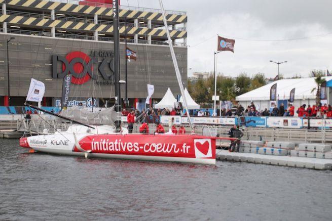 Initiatives-Coeur sur les pontons de la Transat Jacques Vabre