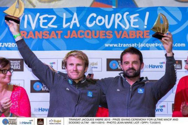 François Gabart et Pascal Bidégorry (Macif)