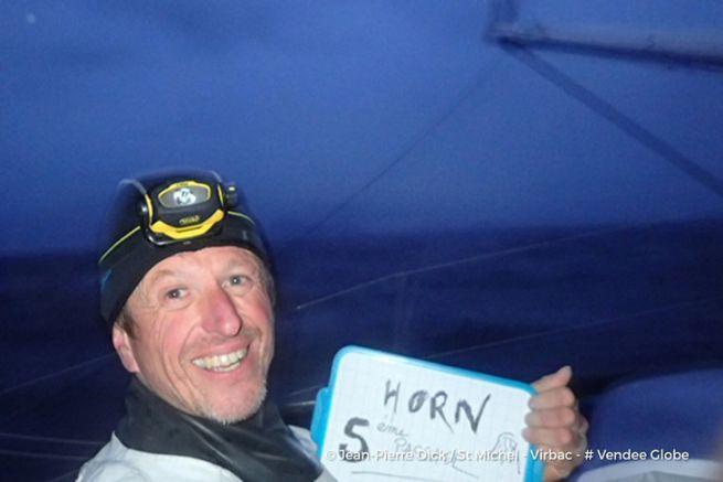 Jean-Pierre Dick vient de passer le Cap Horn