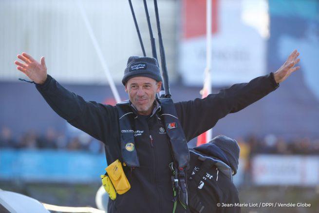 Sébastien Destremau, au départ du 8ème Vendée Globe