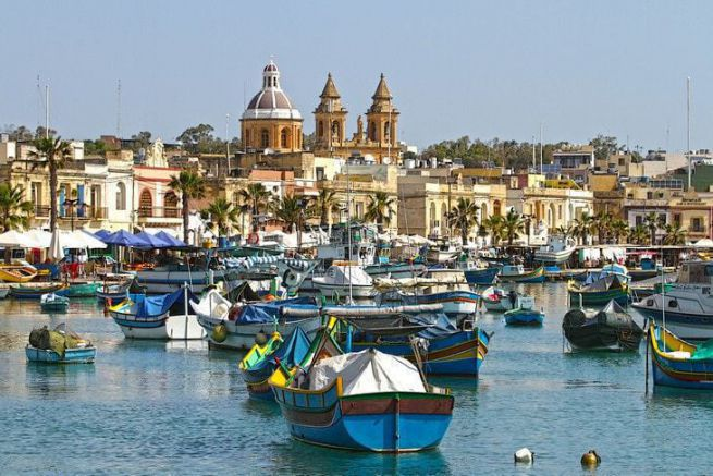 Port de Marsaxlokk à Malte