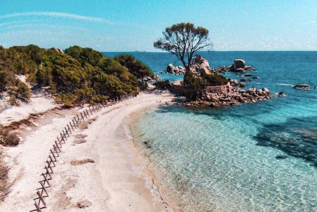 La plage de Palombaggia, Porto-Vecchio, Corse