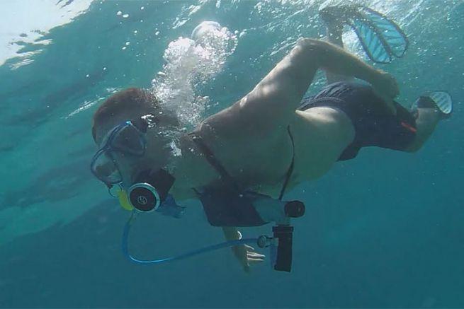 MiniDive, la bouteille de plongée qui se recharge en mer