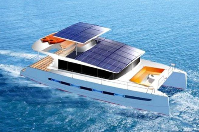 E-power 40, catamaran à moteur hybride de Swiss Catamarans