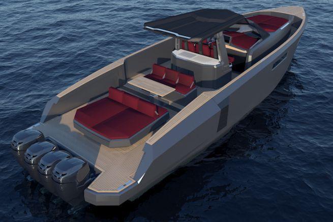Le nouveau Evo Center Console avec motorisation hors-bord