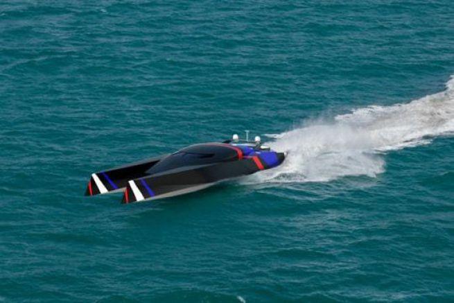 Le TGB34, qui partira à l'assaut du Blue Riband Atlantic Challenge