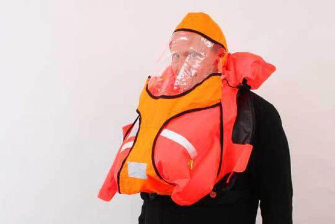 Gilet de sauvetage SECUMAR Survival 220 avec sa capuche