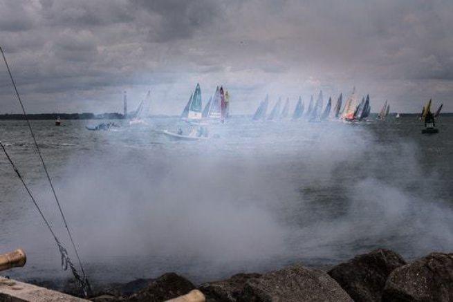 Départ de la 2ème étape de la Solitaire Bompard Le Figaro