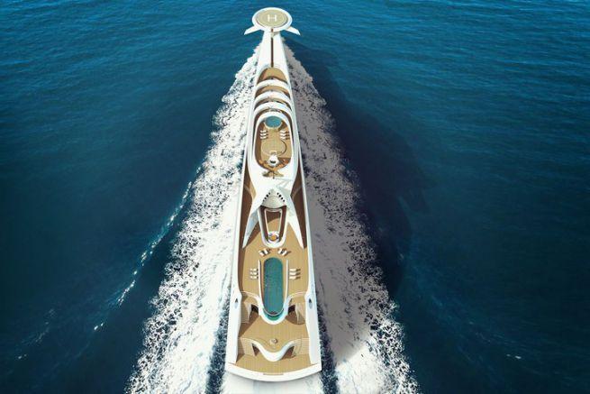 Le concept de superyacht L'Amage