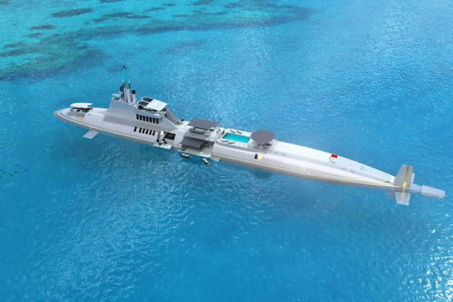 Le superyacht submersible Migaloo