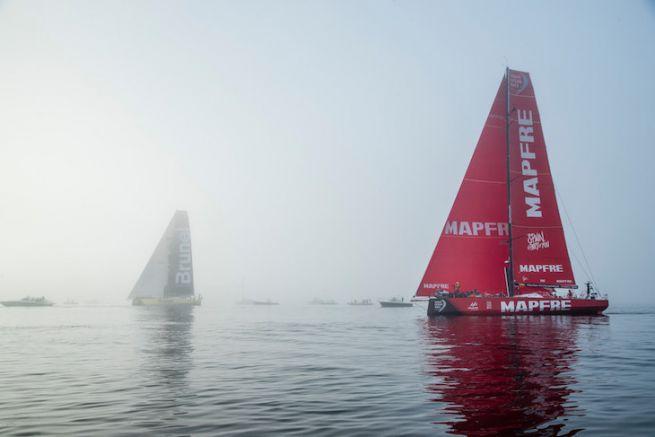 Arrivée de l'étape 8 de la Volvo Ocean Race 2018
