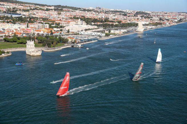 Départ de la 2e étape de la Volvo Ocean Race