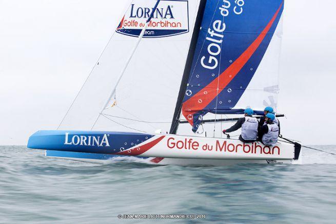 Le Diam 24 Lorina-Golfe du Morbihan lors de la Normandie Cup 2016