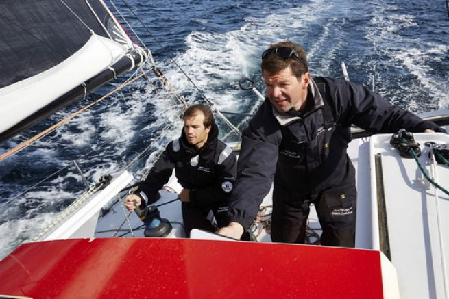 Corentin Horeau et Nicolas Troussel sur Bretagne Crédit Mutuel Elite
