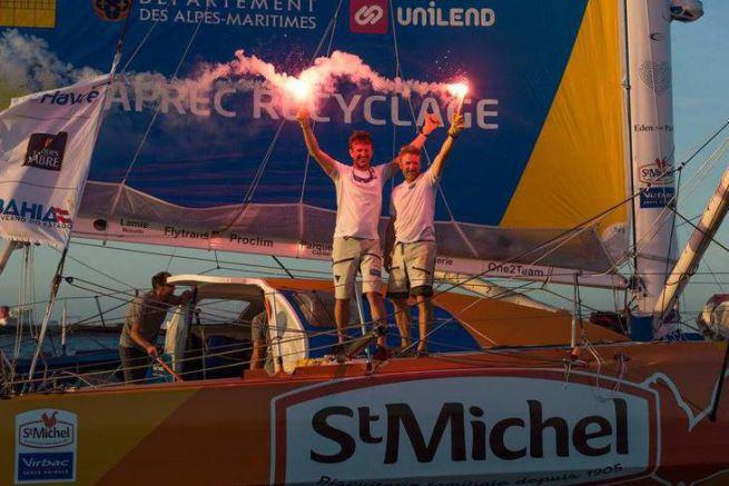 Jean-Pierre Dick et Yann Eliès, vainqueur IMOCA 2017