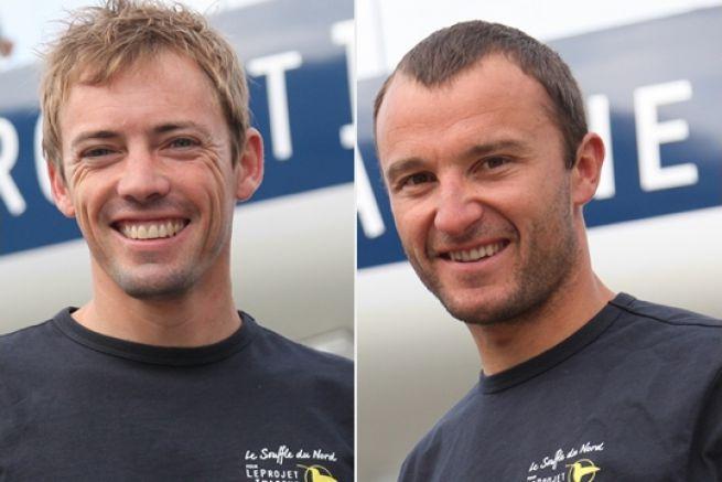 Thomas Ruyant et Adrien Hardy