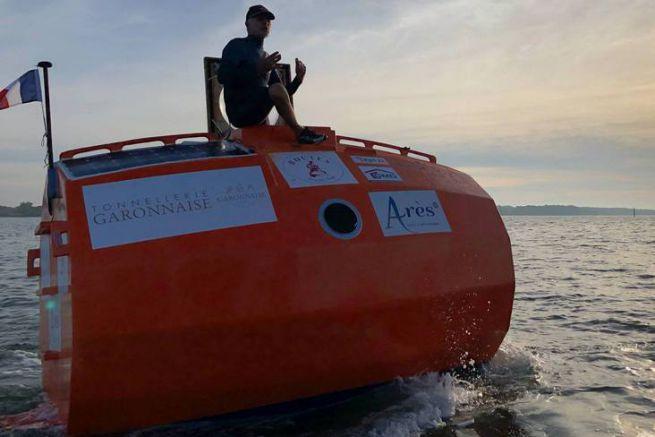 Jean-Jacques Savin traversera l'Atlantique à la dérive à bord de ce tonneau géant.