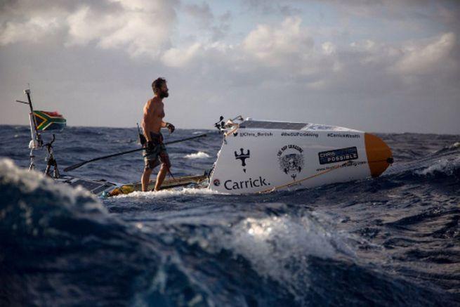 Chris Bertish, le premier homme à traverser l'Atlantique en paddle