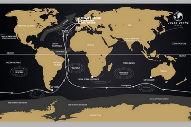 Le parcours de Spindrift 2 sur le Trophée Jules Verne