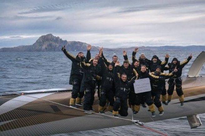 L'équipage de Spindrift 2 au Cap Horn