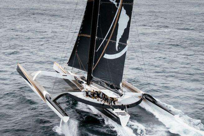 Spindrift 2 sur le Trophée Jules Verne