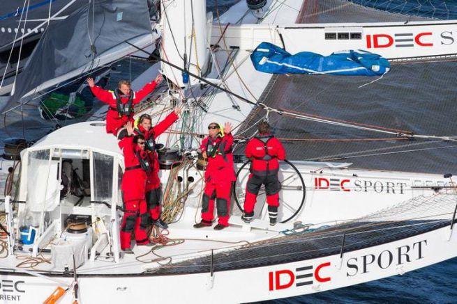 L'équipage d'Idec Sport