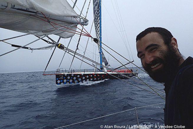 Alan Roura et Eric Bellion naviguent bord à bord en plein coeur de l'Indien