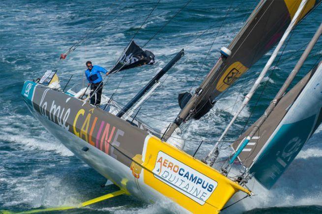 Arnaud Boissières et son bateau La Mie Caline